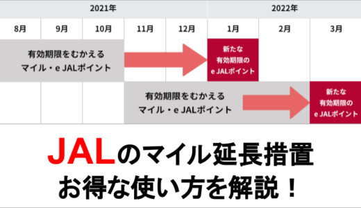 コロナによる【JALのマイル延長措置】通常交換と合わせて効果的に使う方法を解説